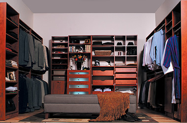 calgary closet renovation with wood furniture